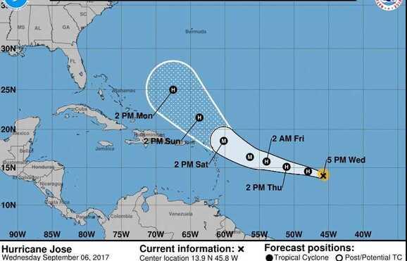 Irma, José e Katia progridem em simultâneo no Atlântico, Irma, José e Katia progridem em simultâneo no Atlântico, Guarulhos Gng