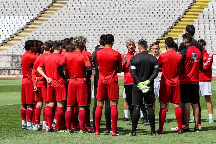 Oeiras, 22/06/2019 - A União Desportiva Vilafranquense  treinou esta manhã no Estádio Nacional, continuando