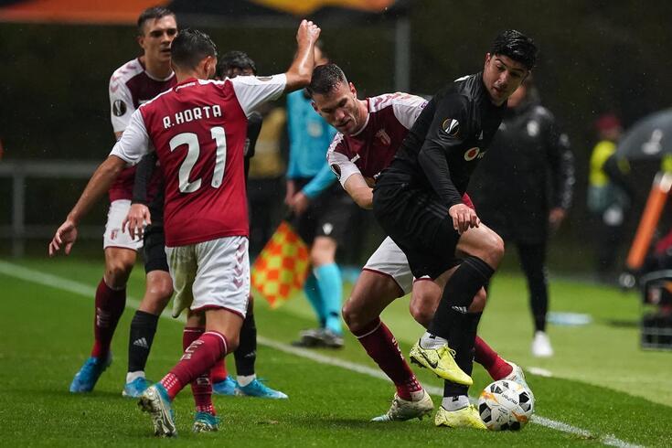 Sequeira ajudou o Braga a somar mais três pontos europeus