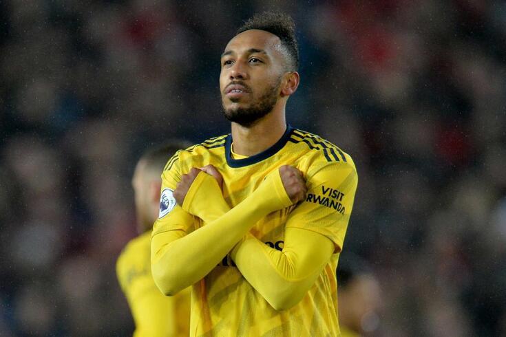 O festejo que Aubameyang já eternizou no Arsenal