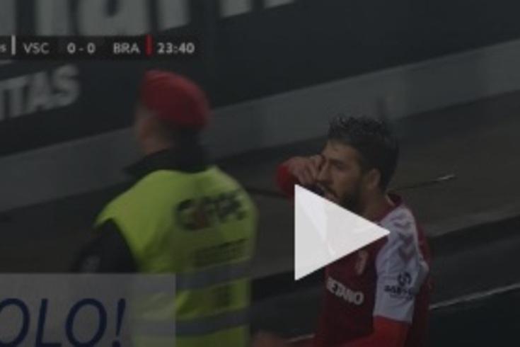 O golo de Paulinho que abriu o marcador no V. Guimarães-Braga