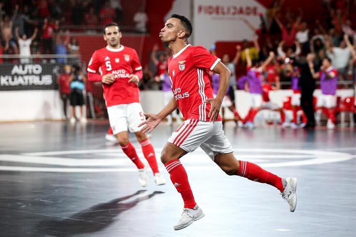 Robinho, jogador do Benfica, equipa que lidera o campeonato
