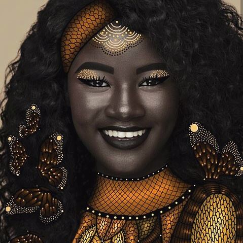 Resultado de imagem para deusa da melanina