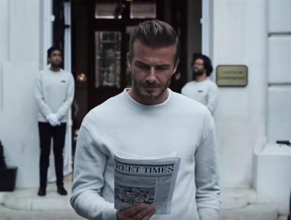 Veja o anúncio que David Beckham gravou em Lisboa