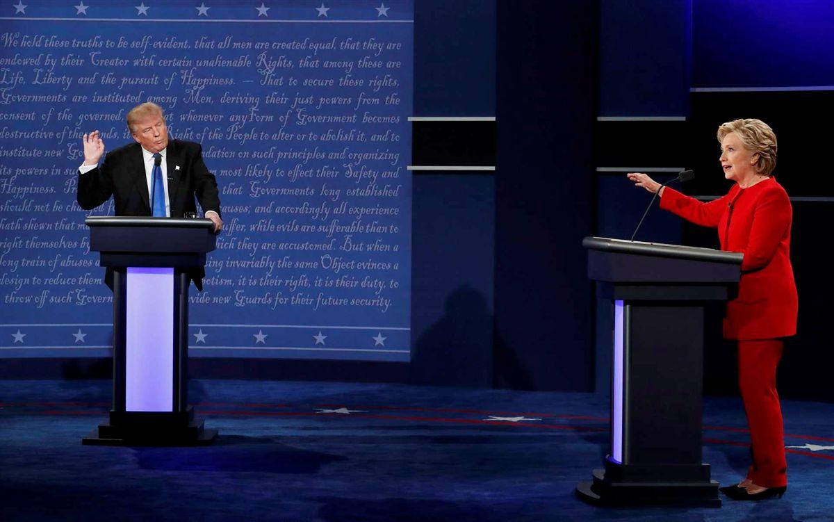 Resultado de imagem para imagens do debate de hillary e trump 26 de 09 2016