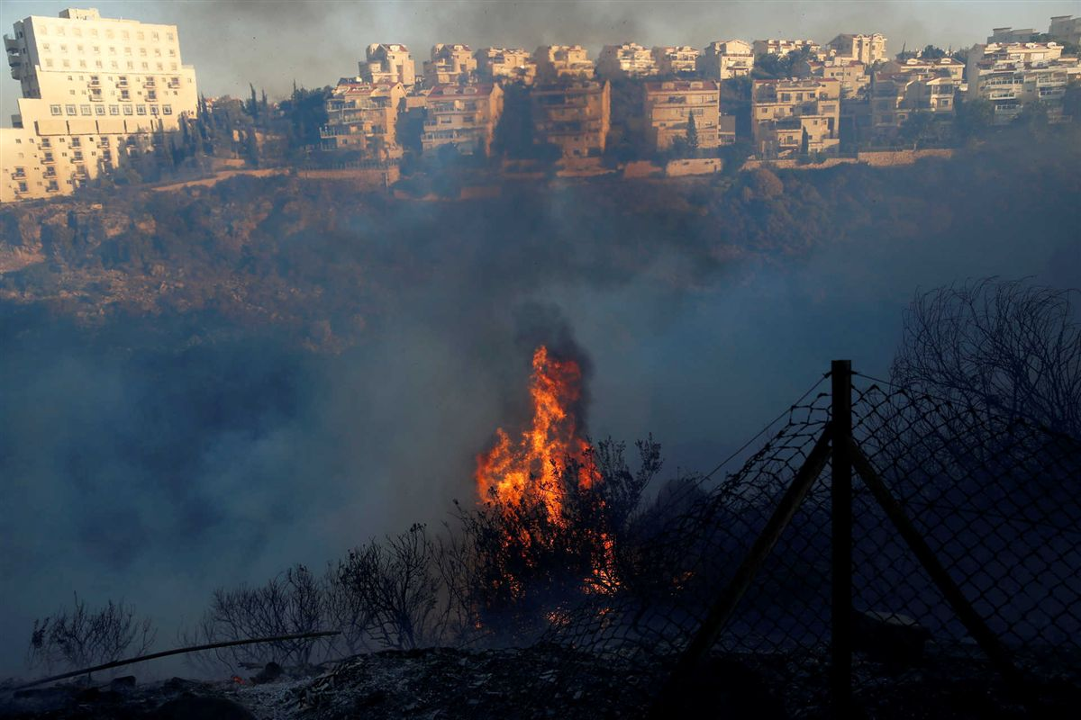 Incêndios florestais forçam a evacuação de 60.000 pessoas em Israel