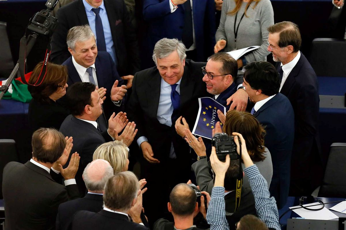 Tajani eleito presidente do Parlamento Europeu