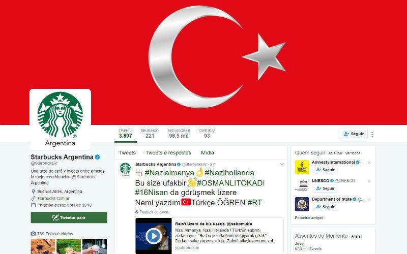 Centenas de contas do Twitter pirateadas por apoiantes do regime turco