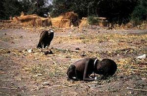 Criança sobreviveu ao abutre, fotógrafo sucumbiu à dor