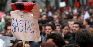 Risco de violência pública em Portugal devido à crise e à austeridade