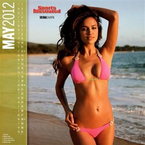 Irina Shayk marca calendário 2012
