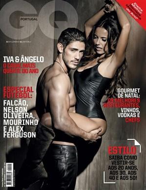 Iva Domingues e Ângelo Rodrigues em revista masculina