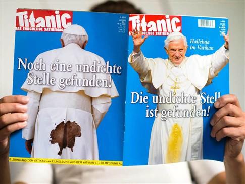Revista proibida de publicar capa com imagem polémica do Papa