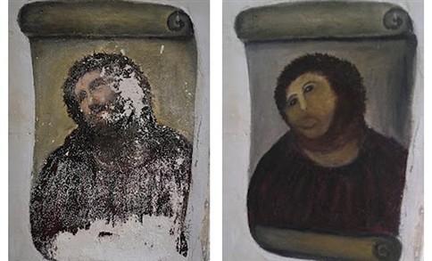 Idosa que destruiu obra de arte quer direitos de autor