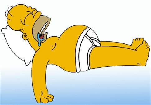Homer Simpson vota em Mitt Romney