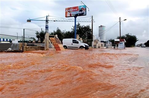 Inundações causam 20 desalojados em Loulé