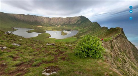 Ilha do Corvo numa viagem virtual