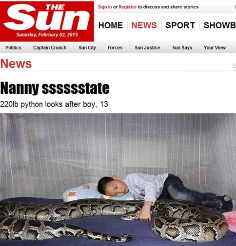 Cobra de 4,5 metros toma conta de rapaz