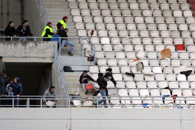 Confrontos entre os adeptos do Vitória de Guimarães e Sporting Braga