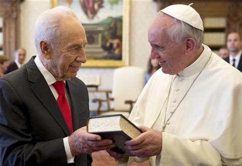 Papa Francisco e presidente de Israel reuniram meia hora