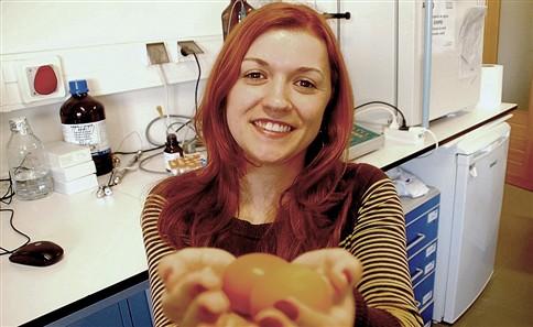Mara quer transformar gema de ovo em antibiótico
