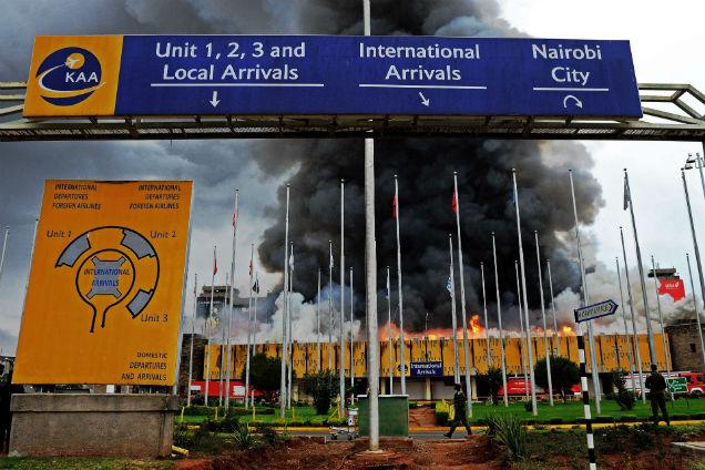 Aeroporto Nairobi : Fogo paralisou aeroporto de nairobi jn