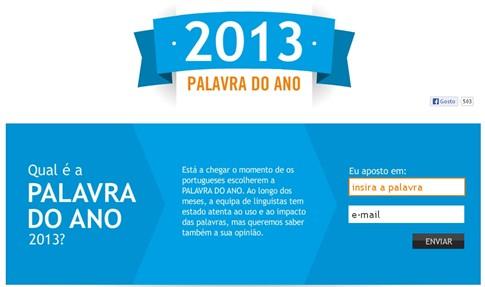 Ajude a escolher a palavra do ano em Portugal