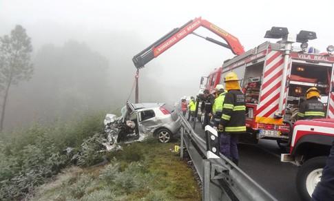 Acidente no IP4 entre autocarro e dois veículos ligeiros provoca um morto