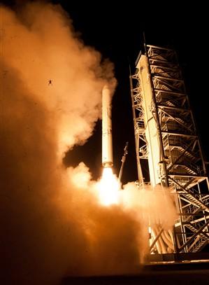 Sapo fotografado no lançamento de foguete