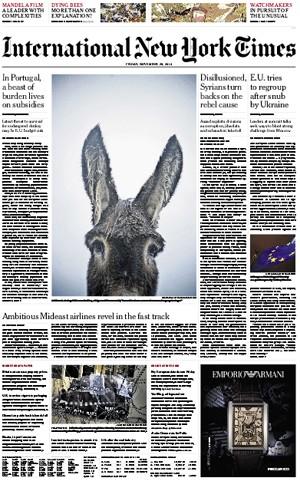 """""""NY Times"""" compara situação do burro mirandês à dos portugueses"""