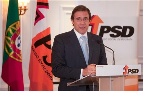 Passos Coelho é candidato a primeiro-ministro nas próximas legislativas