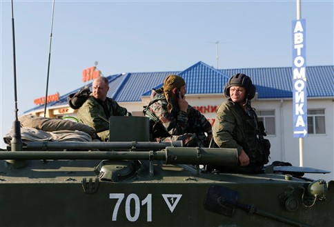 Movimento de blindados russos perto da fronteira ucraniana