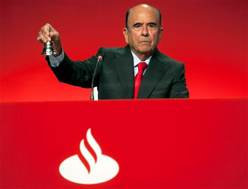 Morreu o presidente do banco Santander