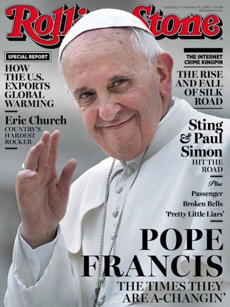 Papa é capa da Rolling Stone, que afirma que «os tempos estão a mudar»