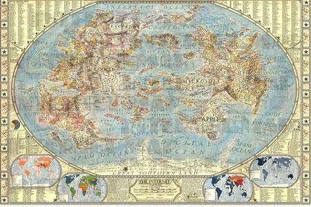 Um mapa para ver a Internet