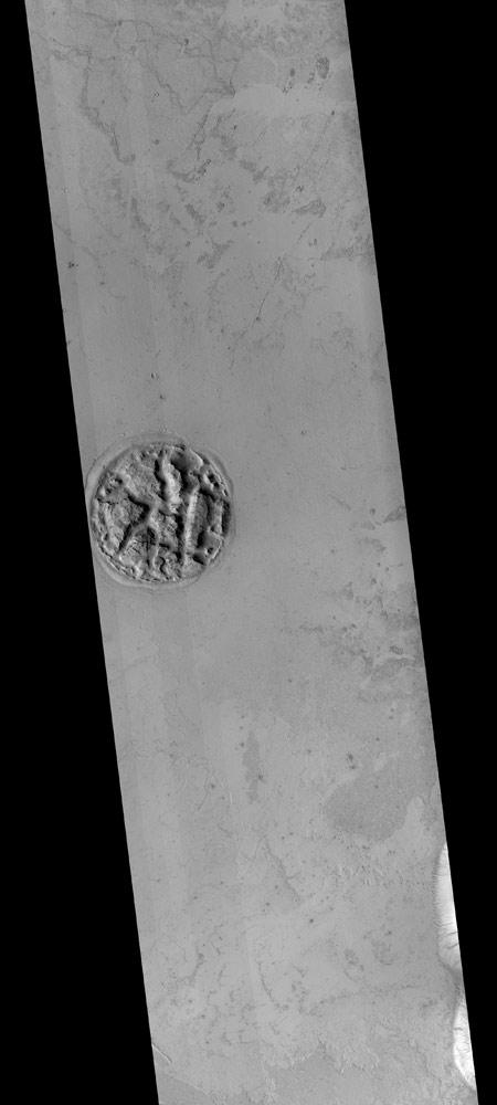 Estranho acidente geológico em Marte intriga NASA