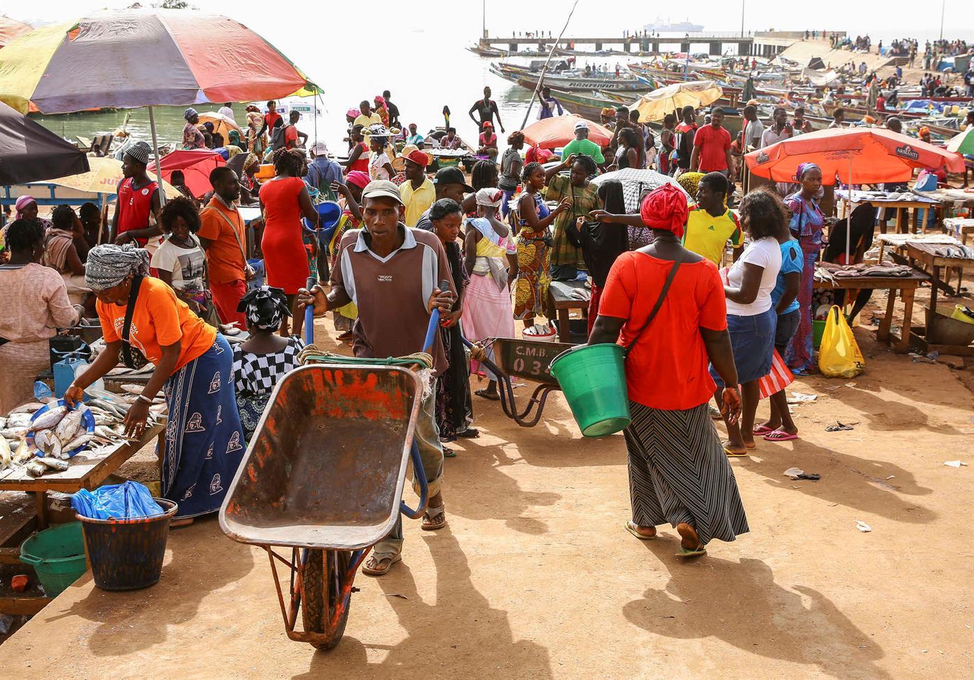 O marcado do peixe de Bissau, numa imagem de 2018