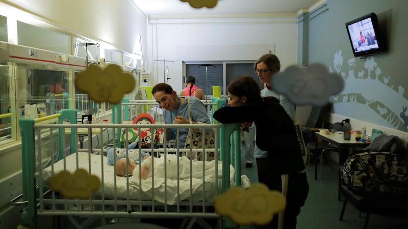 A maior parte dos internados na pediatra do HSA são bebés, com infecções respiratórios típicas do inverno.