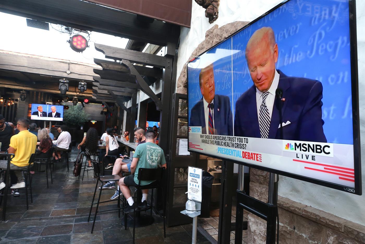 Eleições. Biden manda calar Trump em debate caótico
