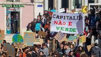 Manifestação pelo clima, realizada a 8 de maio, em Lisboa