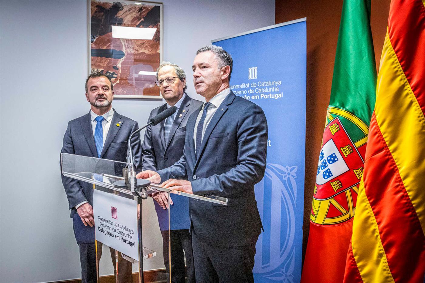 O delegado do governo catalão em Portugal, Rui Reis.