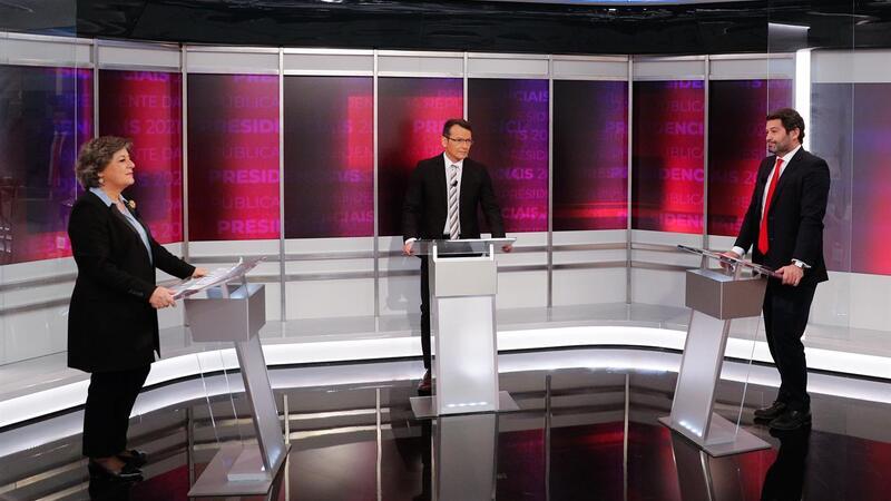 Ana Gomes (12,97%) e André Ventura (11,9%) no debate da campanha às Presidenciais