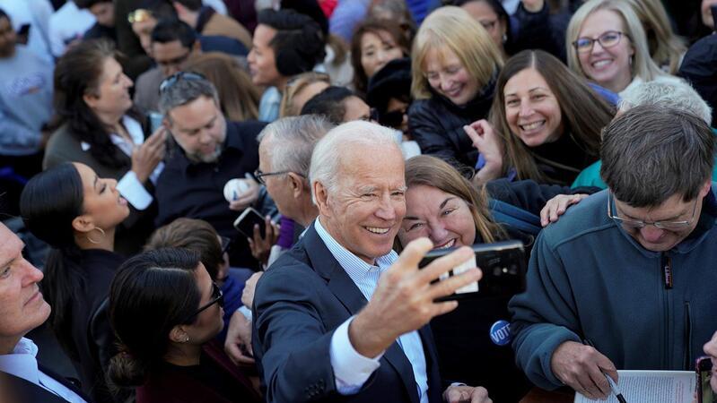 Joe Biden em campanha no estado da Vírginia