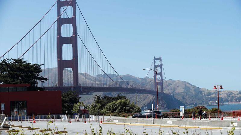 A ponte Golden Gate, em São Francisco.