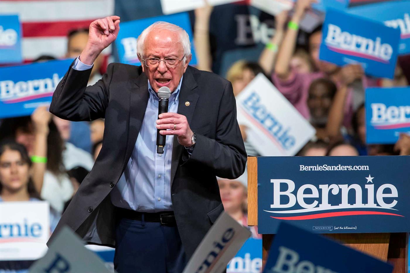 Bernie Sanders é o favorito à nomeação democrata.