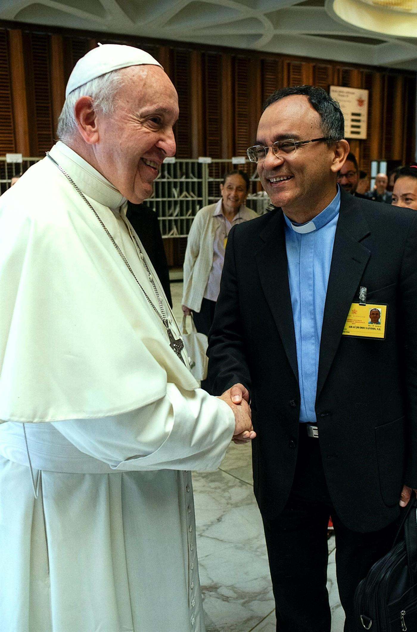 Padre Adelson conheceu o Papa Francisco em 2013, durante a Jornada Mundial da Juventude, logo na altura