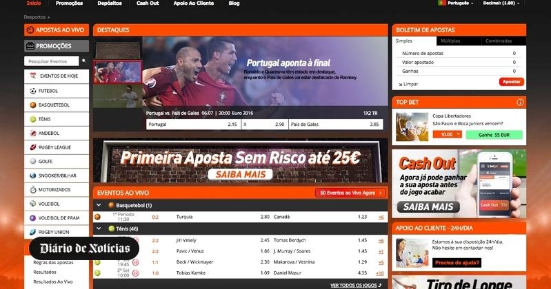 Novo site de apostas online