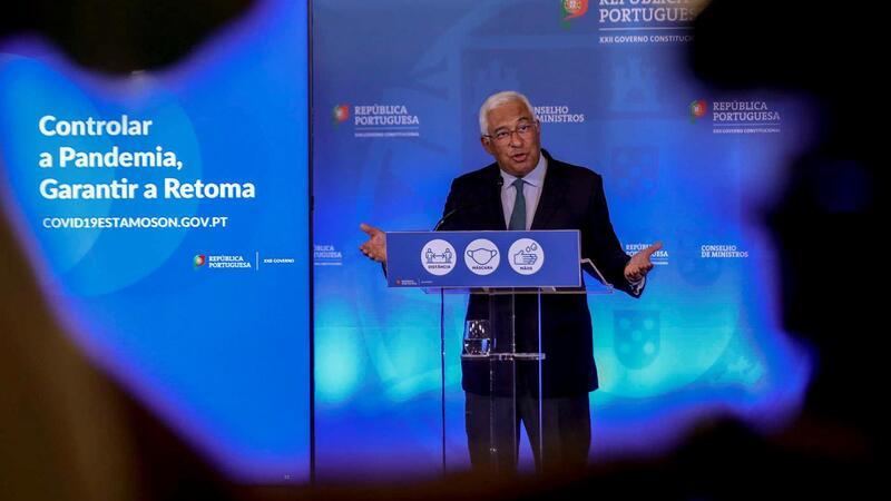 O primeiro-ministro, António Costa, apresentando as conclusões da reunião de ontem do Conselho de Ministros