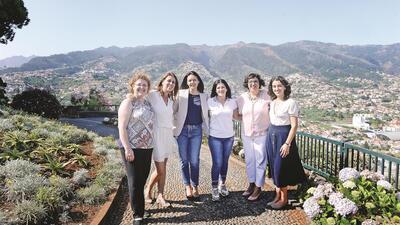 As seis candidatas do Partido Socialista à presidência de autarquias na Madeira (da esquerda para a direita)