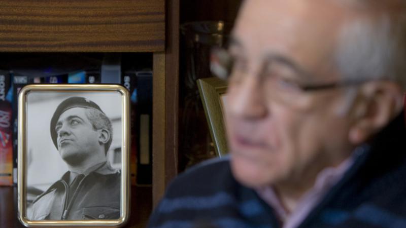 Otelo Saraiva de Carvalho, fotografado aqui em sua casa, em 2010, numa entrevista ao DN